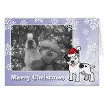 Christmas Staffordshire Bull Terrier Greeting Card