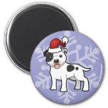 Christmas Staffordshire Bull Terrier Magnets