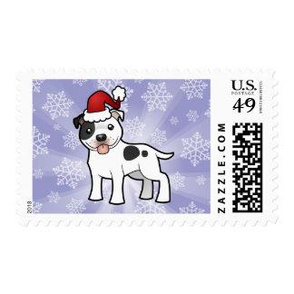 Christmas Staffordshire Bull Terrier Postage