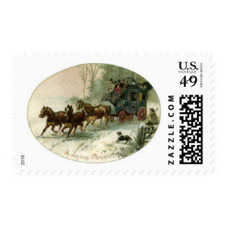 Christmas Stagecoach Postage