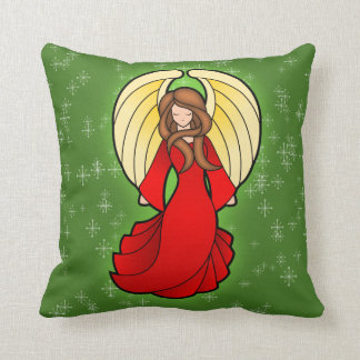 Christmas Stained Glass Angel Pillow