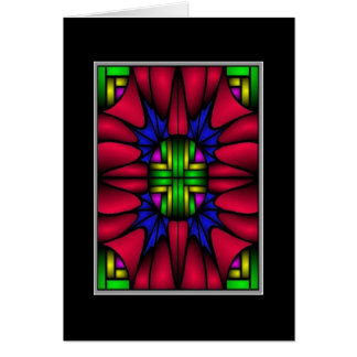 Christmas Stained Glass VI (Christmas Card) Card