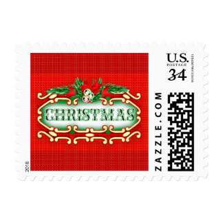 "CHRISTMAS STAMP CARTOON Small, 1.8"" x 1.3"""
