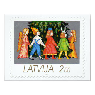 Christmas Stamp Collection from Latvia - 1 Card