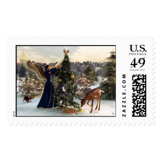 Christmas Stamps - Angel and Animals