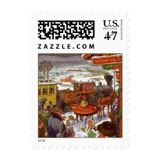 CHRISTMAS STAMPS HOLIDAY Pleasant Valley train sta