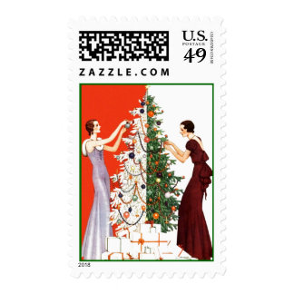 CHRISTMAS STAMPS HOLIDAY TREE DECORATING ORNAMENTS