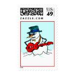 CHRISTMAS STAMPS Snow Fun Guitar SNOWMAN mucic man