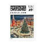 CHRISTMAS STAMPS Town pine Tree Lighting Ceremony