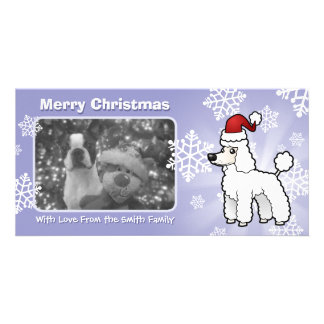 Christmas Standard/Miniature/Toy Poodle puppy cut Card
