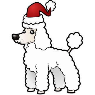 Christmas Standard/Miniature/Toy Poodle puppy cut Cutout