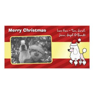 Christmas Standard/Miniature/Toy Poodle (show cut) Card