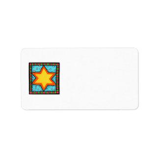 Christmas Star Address Label