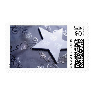 Christmas Star and Fabric Postage