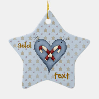 Christmas Star Angel Heart Candy Canes Ornament