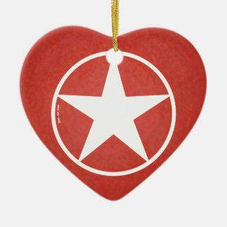 Christmas Star Avatar Ceramic Ornament