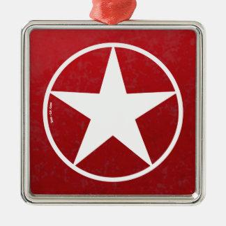 Christmas Star Avatar Metal Ornament