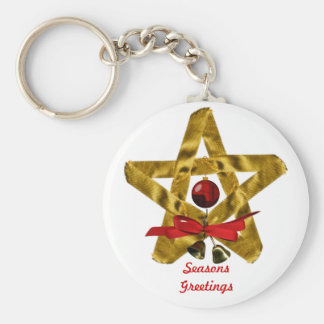 Christmas Star Basic Keychain