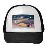 Christmas Star - Basset Hound 1 Mesh Hats