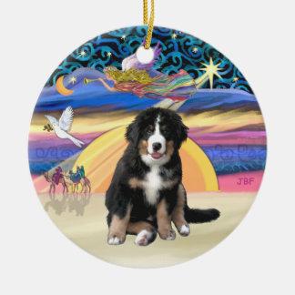Christmas Star - Bernese Mountain Dog Puppy (L) Ceramic Ornament