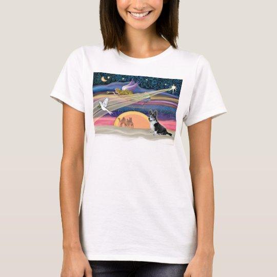 Christmas Star - Bi Black Welsh Corgi T-Shirt