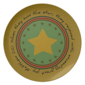 Christmas Star Bible Verse Plate