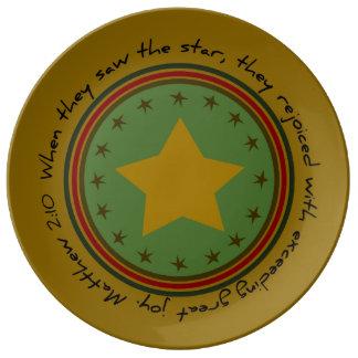 Christmas Star Bible Verse Porcelain Plate
