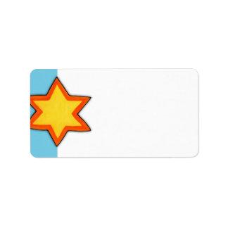 Christmas Star blue Address Label