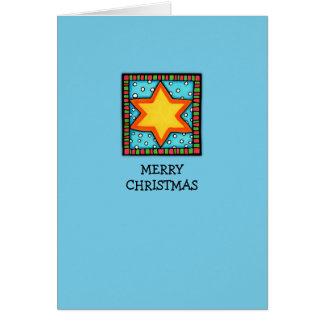 Christmas Star blue Card