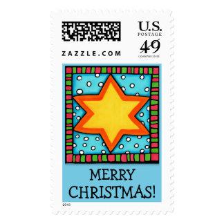 Christmas Star blue Christmas Stamp