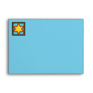 Christmas Star blue red A7 Card Envelope