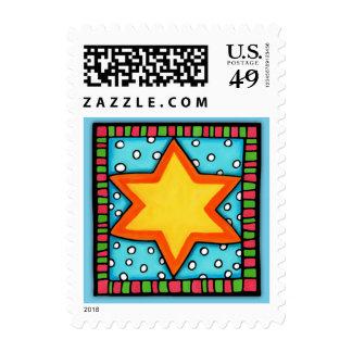 Christmas Star blue Stamp