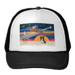 Christmas Star - Border Collie 4 Mesh Hat