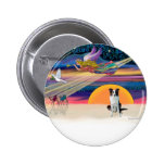 Christmas Star - Border Collie (brown) Pinback Buttons
