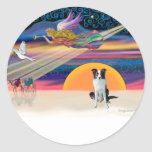 Christmas Star - Border Collie (brown) Stickers