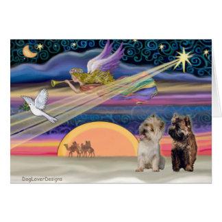 Christmas Star - Cairn (brindle 9) Greeting Card