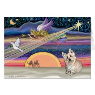 Christmas Star - Cairn Terrier 3 Card