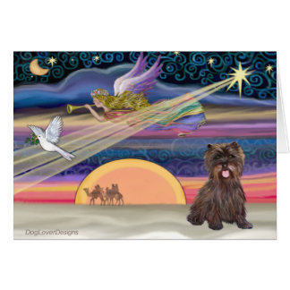 Christmas Star - Cairn Terrier (brindle) Card