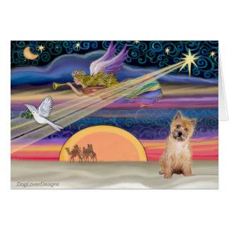 Christmas Star - Cairn Terrier pup #7 - Card