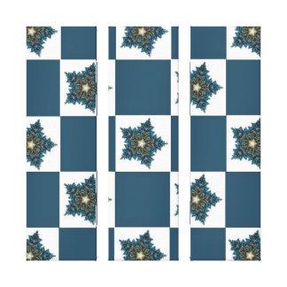 Christmas Star Checkerboard Canvas Print