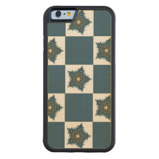 Christmas Star Checkerboard Carved® Maple iPhone 6 Bumper Case