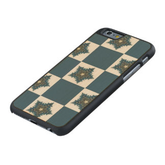 Christmas Star Checkerboard Carved® Maple iPhone 6 Slim Case