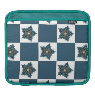 Christmas Star Checkerboard iPad Sleeve