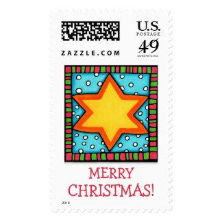 Christmas Star Christmas Stamp