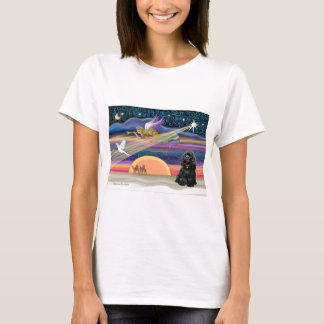 Christmas Star - Cocker Spaniel (black) T-Shirt