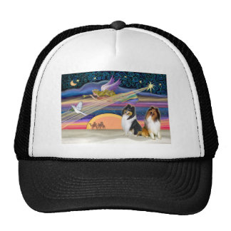 Christmas Star - Collies (two) Trucker Hat