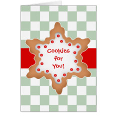 Christmas Star Cookie Design Card at Zazzle