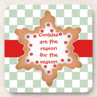 Christmas star cookie is the reason beverage coaster