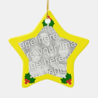 Christmas Star Custom Ornament