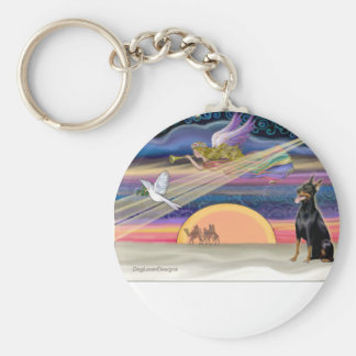 Christmas Star - Doberman 1 - Key Chain